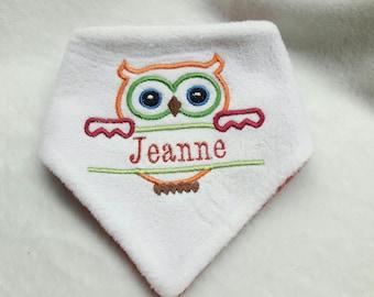personalized fleece reversible baby bandana