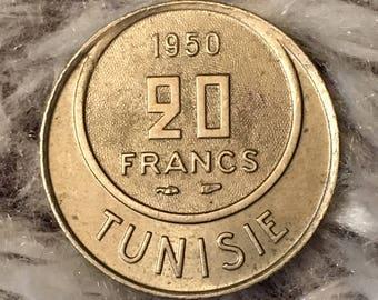 1950 Tunisie 20 Francs
