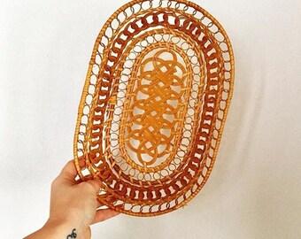 Vintage - Ornate - Oval Shape - Basket/Tray
