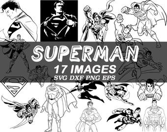 superman svg, super hero svg, clipart, dxf, png, eps, image, vector, stencil, vinyl, decal, cut files, iron on