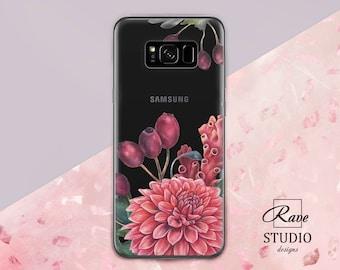 Flowers case Floral samsung case Ranunculus flowers Chrysanthemum Galaxy 7 Samsung A 5 case Samsung A3 2017 case Galaxy note 8 Samsung case