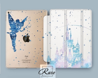 Disney iPad case Disney castle case iPad cover Disney Castle watercolor Disney prints castle Cute Disney gift Disney ipad 3 case Disney iPad