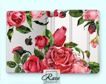 Rose iPad case Floral case iPad 2 cover Tablet case Flower iPad case clear Floral case Mini iPad 4 case iPad case Rose case iPad air 2 iPad