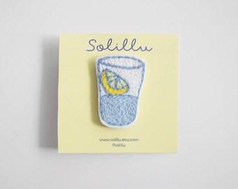 PIN/patch embroidery lemon glass
