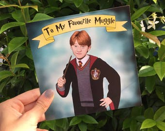 """Central 23 Ron Weasley Card """"To My Favourite Muggle"""""""