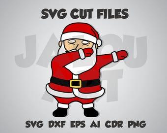 Dabbing santa, santa, christmas, funny, dab, gift, SVG cut file, dxf, eps, ai, cdr, png transparent background