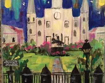 New Orleans,New Orleans art, french quarter art,St Louis Cathedral,jackson square,original art,nola artists,nola