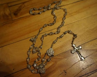 Crystal Vintage white transparent rosary