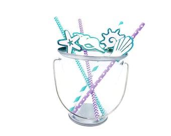 Mermaid Birthday Straws, Mermaid Party, Merman Party, Shell straws, Party Straws, Girl Birthday, Boy Birthday, Under the Sea Party