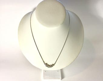 Vintage Faux Diamond Necklace