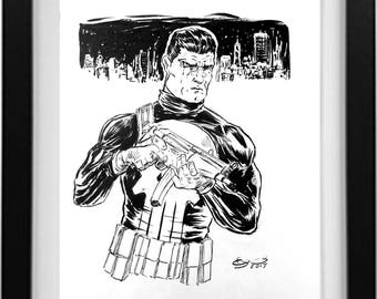 Punisher Ink Drawing