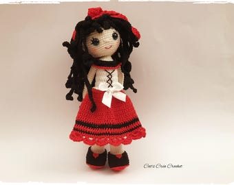 Amigurumi - Lucile, crochet Doll model Croc's Betty