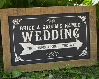 Barn Board Wedding Sign Personalized Wedding Signage Chalk Board Wedding Sign Customized Wedding Sign