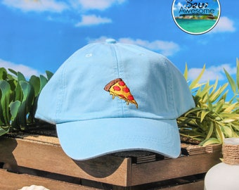 Pepperoni Pizza Embroidered Baseball Hat, Cute Pizza Hat,Cute Gift, Choose Your Own Color Hat, Food Lover Hat, Low Profile Hat, Dad Hat