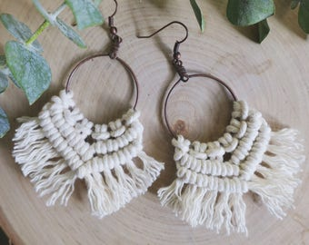 CELANDINE // Macrame Earrings, Macrame jewelry