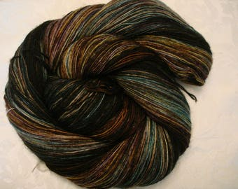 SOFTY MERINO Lace yarn, All Merino, Single Ply, Hand Dyed, Color - Wooded Field