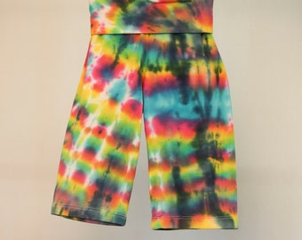 Tie Dyed Yoga Pants - Size 00 - Cotton - Girls - Boho - Boy - Beach - Gypsy - FREE SHIPPING within AUS