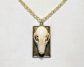 Bat Skull Necklace - Real Skull - Handmade - Oddity Jewelry