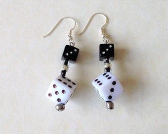 Black & White Dice Earrings