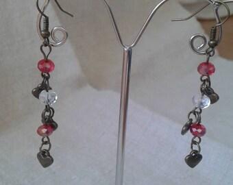 """Earrings """"cascade of hearts"""""""