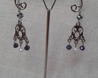 Earrings small faceted beads