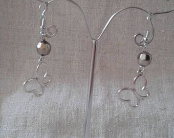"Earrings ""butterfly and Pearl"""