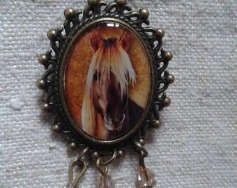 "brooch ""cabochon horse"""