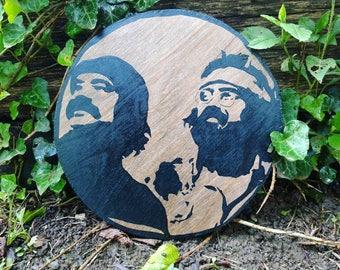 Cheech & Chong stencil