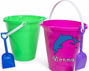 Dolphin Beach Pail, Dolphin Personalized Sand Beach Bucket, Dolphin Sand Pail, Sand Bucket