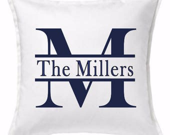 Personalized Name Pillow - Initial Pillow - Wedding Gift
