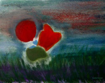 Moor in red balloon