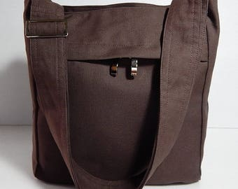 Virine brown cross body bag, messenger everyday shoulder handbag, travel...