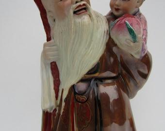 Xing Shou Lao/God of longevity/family Rose