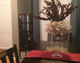 Burgundy and creame Large centerpiece