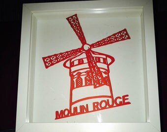Red Mill sheet of paper cut