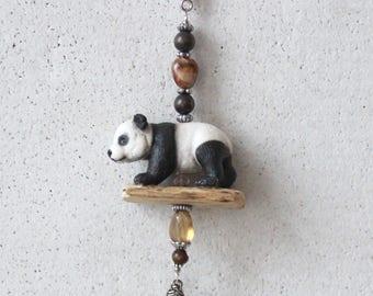 Bag pendant, Taschenbaumler, charm, Panda bear
