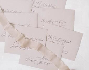 Organic Envelope Calligraphy Addressing - Style One