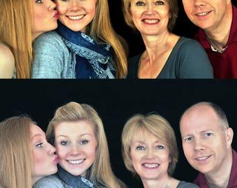 Family photo editing, couple photo retouching