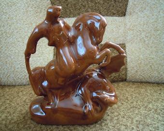 Ceramic figurine. Ukrainian figurine. Kozak. Collectible figurine. Unique sculpture. Ceramic statue. Ceramic sculpture. Ceramic statuette.