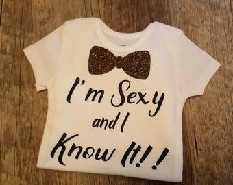Baby Boy, Toddler Boy, Boy Onesie, Baby Tuxedo, I'm Sexy and I Know It Onesie, Super Cute, Boy Bow Tie, Tee or Onesie