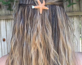 FREE SHIPPING - Beachy starfish hair clip