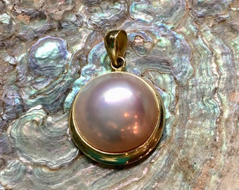 14KT and Mabe Pearl Pendant