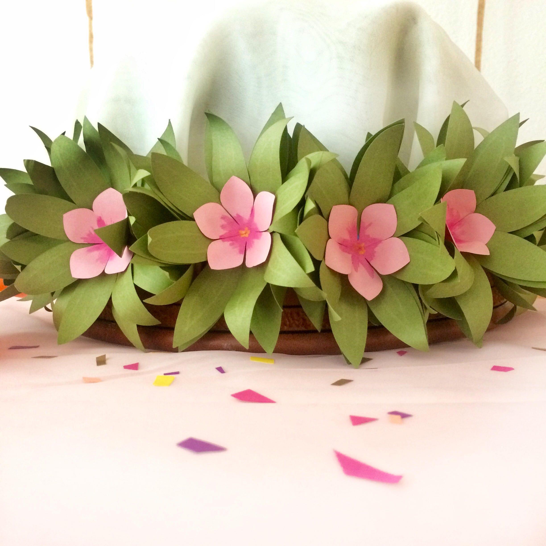 Flower crown tropical flower crown luau hawaiian flower crown flower crown tropical flower crown luau hawaiian flower crown paper flowers izmirmasajfo Gallery