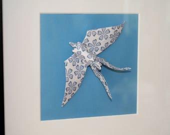 Origami Paper Bird Frame