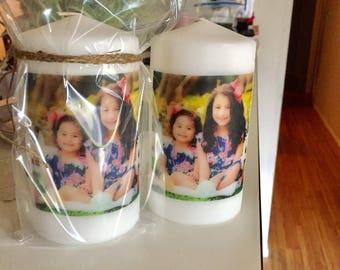 Medium custom picture candles