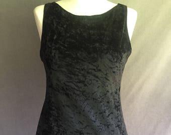Vintage 90s Grunge Velour Maxi Dress