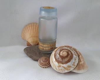 Austrian Blue Satin Glass Perfume Bottle