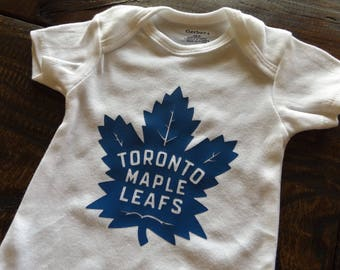 Toronto Maple Leafs Hockey Onesie Baby Infant Bodysuit Creeper Romper Baby Shower Birthday Gift Sport (#46)