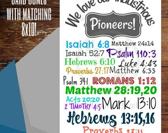 We love our industrious pioneer instant digital print, jw pioneer cards, thank you cards, 8x10, jw pioneer gift, jw gift, Jehovah's Witness