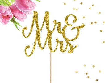 Mr and Mrs Cake Topper, Wedding Cake Decor, Wedding Cake Topper, Mr and Mrs Topper, Bridal Shower Cake Topper, Engagement Party,Wedding Sign